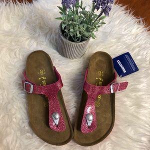 Birkenstock Gizeh Pink glitter for girls 220 3 3.5